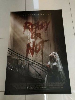 Ready Or Not Onesheet Movie Poster