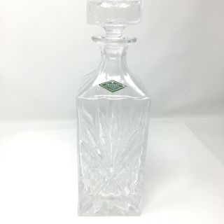 Shannon Crystal Designs Of Ireland Hand Crafted Square Decanter