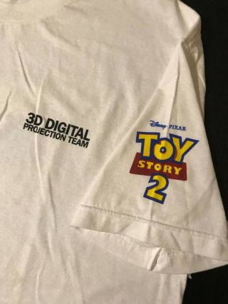 Toy Story 2 3d Projection Team Xl T - Shirt Movie Pixar Cartoon Animation Dvd