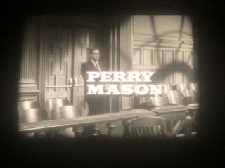 "16mm Tv Show: ""perry Mason"",  Cbs Network Print,  Commercials,  1963"