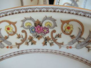 Set Of 6 Royal Embassy Wheeling Heirloom Fine China Dinner Plates Occupied Japan
