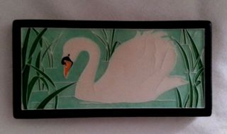 Motawi Tileworks Swan Mission Arts Crafts Style Tile 4x8 Ann Arbor Michigan Usa