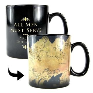 Game Of Thrones Westeros Map Heat Changing Magic Mug Coffee Cup Gift Box