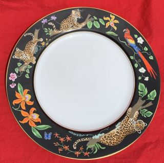 """Lynn Chase Jaguar Jungle Dinner Plate 10 7/8 """" Crafted In Japan Cond"""