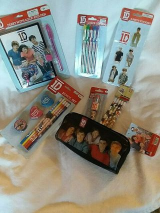 Rare One Direction,  Collectible Nwt Back To School Supplies Diary,  Pens Pencils