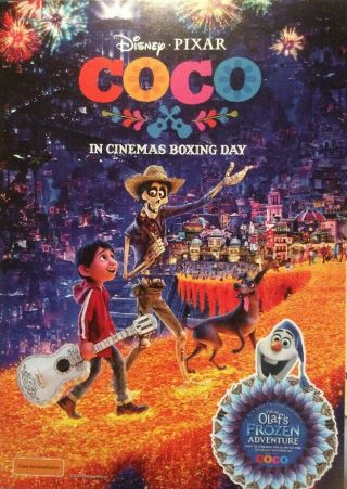 Promotional Movie Flyer Not A Dvd Disney Pixar Coco