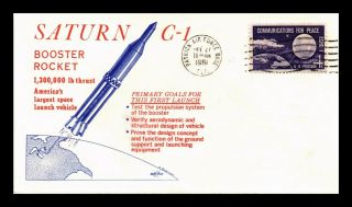 Dr Jim Stamps Us Saturn Booster Rocket Space Craft Event Cover 1961