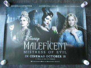 Maleficent Mistress Of Evil Uk Movie Poster Quad Double - Sided 2019 Rare