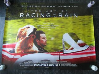 The Art Of Racing In The Rain Uk Movie Poster Quad Double - Sided 2019