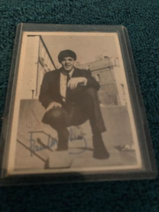 1964 T.  C.  G.  The Beatles Signed Trading Card 1st Series No.  58 Paul Mccartney