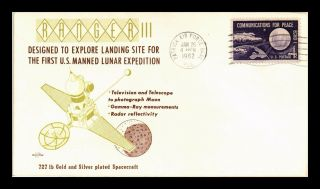 Dr Jim Stamps Us Ranger Iii Lunar Expedition Space Craft Event Cover 1962