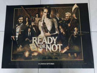 Ready Or Not Uk Quad Movie Poster