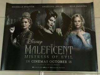 Maleficent Mistress Of Evil Uk Quad Movie Poster
