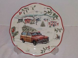 """Winter Forest Better Homes & Gardens Salad Plate Station Wagon - 8 3/4 """""""
