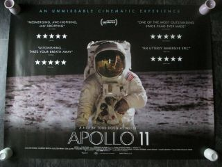 Apollo 11 Uk Movie Poster Quad Double - Sided 2019 Cinema Poster Rare