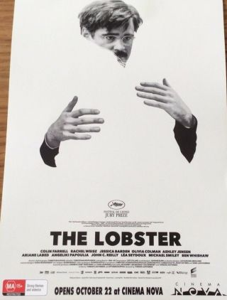 Promotional Movie Flyer Not A Dvd Lobster Colin Farrell