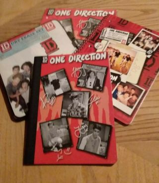 Rare One Direction,  Collectible Nwt Back To School 5 Piece Kit