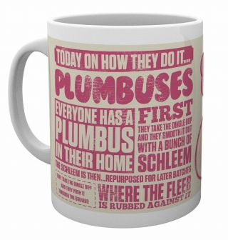 Official Rick And Morty Plumbus How They Do It Coffee Mug Cup In Gift Box