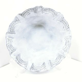 Set Of 4 Vietri Incanto White Baroque Cereal Bowl Artisan Crafted Italy