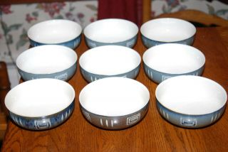 Set Of 9 Mikasa Potters Craft Firesong Cereal Bowls Hp300
