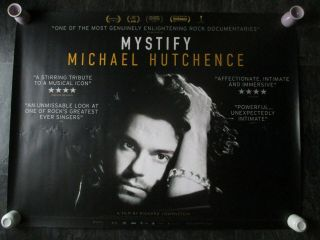 Mystify Michael Hutchence Uk Movie Poster Quad Double - Sided 2019 Poster