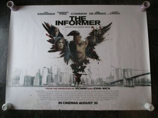 The Informer Uk Movie Poster Quad Double - Sided 2019 Cinema Poster Rare