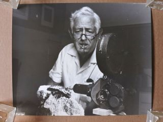 William Castle By The Camera Candid Horror Photo 1975 Bug