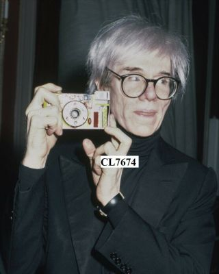 Andy Warhol Holds Up A Hand - Decorated,  Point - And - Shoot Camera Photo
