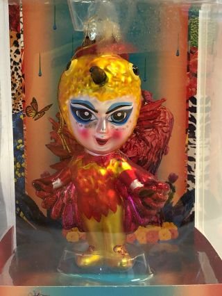 Unique Cirque Du Soleil Hand Crafted Glass Ornament Luzia Christmas,  2016