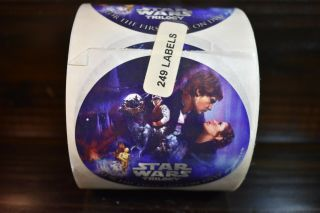 Roll Of 249 Star Wars Trilogy First Time On Dvd Promotional Stickers