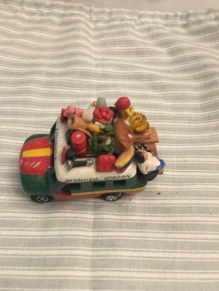 Vintage Colombia Folk Art Hand Crafted Terracotta Clay Bus - 4 ""