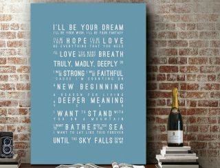 Savage Garden Truly Madly Deeply | Song Lyrics Art Print | Canvas Gift