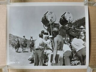 Camera Crew Filming On Location Candid Western Production Photo 47 Black Bart 2