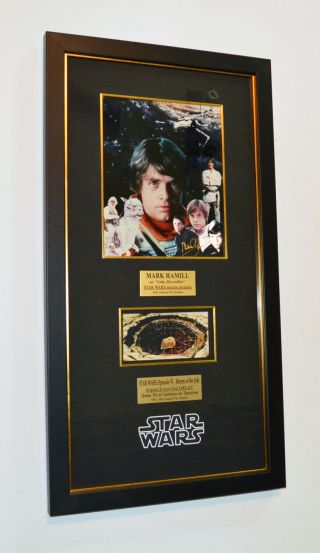 Star Wars Prop Sarlacc Mark Hamill Signed Autograph,  Uacc,  Blu Ray Dvd,  Frame
