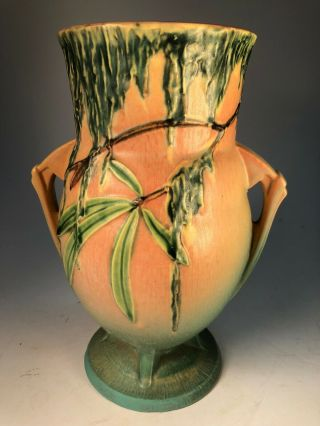 Roseville Spanish Moss Vase Rare Arts And Crafts Old Pottery