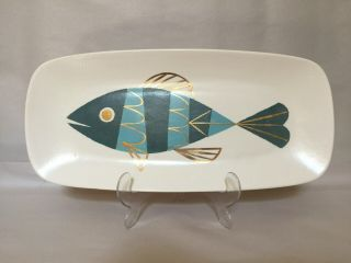 Modernist Art Pottery - Fish Platter - Rectangular Shape - Studio Hand Crafted