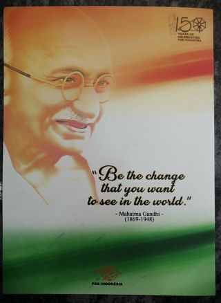 Indonesia 2019 Mahatma Gandhi Limited Edition Pack With Sheet,  Fdc