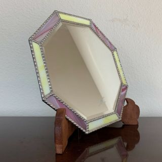 Vintage Mirror Stained Glass Hand Crafted Art