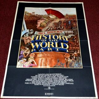 History Of The World Part 1 1981 27x41 Movie Poster Mel Brooks Comedy
