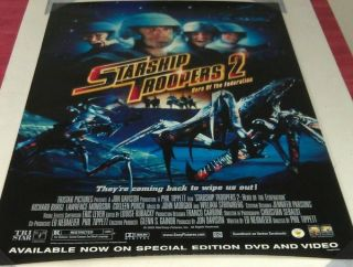 Starship Troopers 2 Dvd Movie Poster 1 Sided 27x40