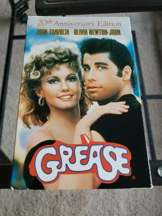Grease 20th Anniversary Limited Edition Vhs With Dvd.