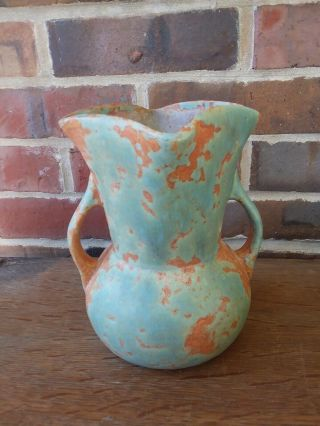 Antique Burley Winter Pottery Vase Two Handles Art & Crafts
