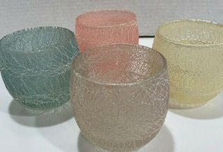 Shat - R - Pruf By Color Craft Spaghetti String Rubber Coated Roly - Poly Tumblers (4)