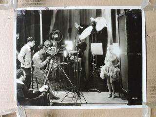 Evelyn Brent & Camera Crew Leggy Candid Pre - Code Production Photo 1929 Broadway