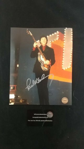 The Beatles Paul Mccartney Signed 8x10 Photo.  With See Photos Must Have