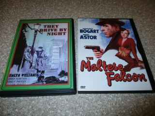 2 Vintage 1940s Dvds Humphrey Bogart They Drive By Night & The Maltese Falcon