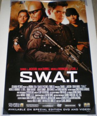 Swat Dvd Movie Poster Ss Vf 27x40 Colin Farrell Jeremy Renner S.  W.  A.  T.