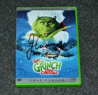 How The Grinch Stole Christmas Signed By Jim Carrey Autograph Collectors Dvd