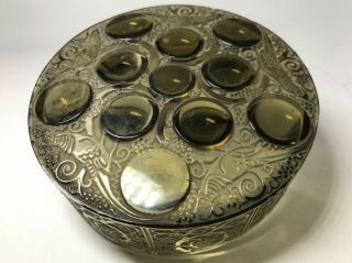 Antique French Early Signed Rene Lalique Roger Glass Dresser Trinket Box France