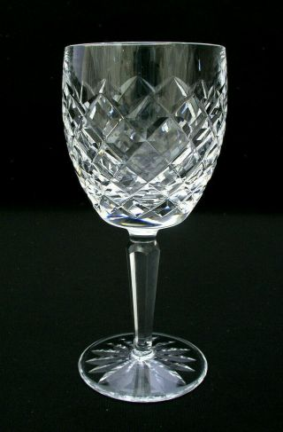 "Waterford Irish Crystal - Comeragh Pattern - 7 "" Water Goblet -"